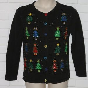 Basic Editions Holiday Sz M Ugly Beaded Christmas